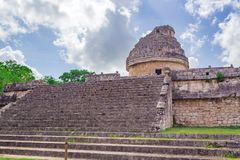 Chichen Itza Maya Ruins Observatory temple in Yucatan, Mexico stock photo