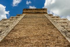 Chichen Itza - Maya Temple Ruins antique dans Yucatan, Mexique images libres de droits