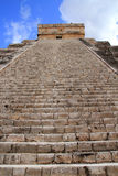 Chichen Itza Mayan Kukulcan pyramid in Mexico Royalty Free Stock Photos