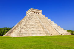 Chichen Itza, mayan pyramid in Mexico Royalty Free Stock Photo