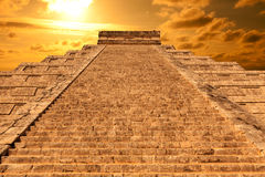 Chichen Itza, mayan pyramid in Mexico Royalty Free Stock Photography