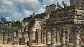 Chichen Itza, mayan pyramid in Yucatan, Mexico. It`s one of the. El Castillo The Kukulkan Temple of Chichen Itza, mayan pyramid in Yucatan, Mexico. It`s one of Royalty Free Stock Image