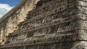 Chichen Itza, mayan pyramid in Yucatan, Mexico. It`s one of the. El Castillo The Kukulkan Temple of Chichen Itza, mayan pyramid in Yucatan, Mexico. It`s one of Stock Photography