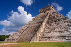Chichen Itza Mayan pyramid in Yucatan Stock Photography