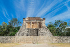 Chichen Itza. Mayan ruins, Columns in the Temple of a Thousand Warriors Yucatan, Mexico royalty free stock photo