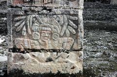 Chichen Itza in Mexico. Relief in the ruins of Chichen Itza in Mexico Royalty Free Stock Photo