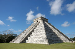 Chichen Itza - Mexico. Pyramid in archeological area in Chichen Itza Stock Photography