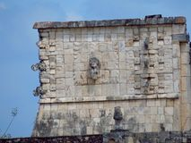 Chichen Itza, Mexico; April 16 2015: People visiting the ancient buildings of maya culture liek the pyramid, jaguar temple, planet. Ary, etc royalty free stock photos