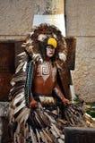 CHICHEN ITZA, MEXICO - MAART 21.2014: Inheemse mayan dansers die in Chichen Itza presteren Stock Afbeeldingen