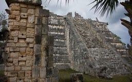 Chichen Itza Mexico tempel Royaltyfri Fotografi