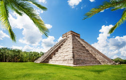 Chichen Itza monument in summer, Mexico Stock Photo