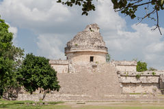 Chichen Itza Observatory Mexico Royalty Free Stock Photo