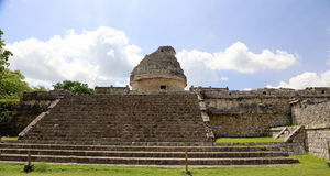 Chichen Itza. Observatory at chichen itza in mexico Royalty Free Stock Image