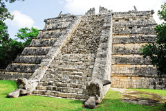 Chichen itza, The ossuary, tomb of high priest. (Mexico Royalty Free Stock Images