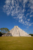 Chichen Itza Portrait. Chichen Itza Portrait with room for copy. One of the seven wonders of the world Royalty Free Stock Photo