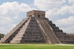 Chichen Itza Pyramid. Temple of Kukulkan Pyramid (also known as El Castillo) in Chichen Itza, Mexico Royalty Free Stock Image