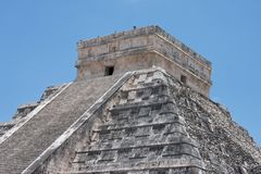 Chichen itza pyramid Royalty Free Stock Images