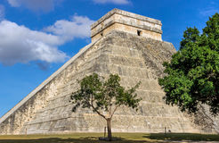 Chichen Itza pyramid of Kukulkan Royalty Free Stock Images