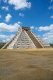 Chichen Itza pyramid Maya Mexico. The most popular Mayan pyramid of Chichen Itza, Tulum Mexico Royalty Free Stock Image