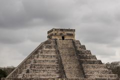 Chichen Itza Pyramid is a mayan calendar stock photos