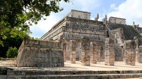 Chichen Itza. Pyramid at chichen itza in mexico Stock Photo