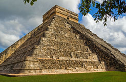 Chichen Itza pyramid in Mexico. Ancient Mayan Kukulkan pyramid in Chichen Itza archaeological sight Royalty Free Stock Photography