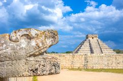 Chichen Itza pyramid,Mexico Royalty Free Stock Photos
