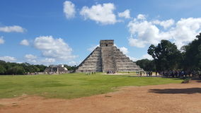 Chichen Itza pyramid in Mexico. This picture shows the amazing structure of Chichen Itza pyramid, also called the castle, one of the most important Mayan ruins Royalty Free Stock Images