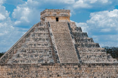 Chichen Itza Pyramid. Temple of Kukulkan Pyramid (also known as El Castillo) in Chichen Itza, Mexico Royalty Free Stock Images