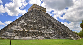 Chichen Itza Pyramid, Wonder of the World, Mexico Stock Photo