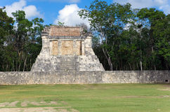 Chichen Itza pyramid, Yucatan, Mexico. Landscape in a sunny day Royalty Free Stock Photography