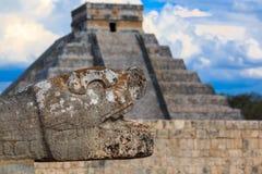 Chichen Itza Pyramide Stockfotos