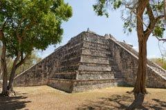 Chichen Itza ruin in Mexico. Pyramid structure at the Chichen Itza archaeological site in Mexico Stock Image