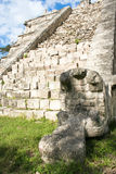 Chichen Itza ruins. Ruins of an ancient temple in Chichen Itza, Mexico stock images