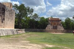 Chichen Itza ruins in Mexico Royalty Free Stock Photography