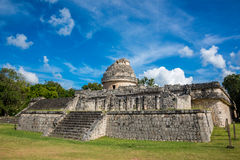 Chichen Itza Ruins Mexico Mayan culture. Traveling wonder park. Stock Images