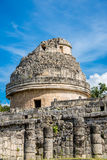 Chichen Itza Ruins Mexico Mayan culture. Traveling wonder park. Royalty Free Stock Photography