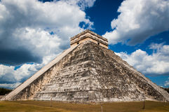 Chichen Itza ruins temple of Kukulcan El Castillo. Chichen-Itza El Castillo Mayan Themple of Kukulcan on Yucatan peninsula in Mexico. One of the most impressive Stock Image