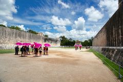 Chichen itza ruins Royalty Free Stock Images