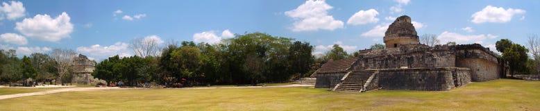 Chichen Itza site. View of El Caracol, Chichen Itza site, Yucatan, Mexico Royalty Free Stock Images