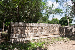 Chichen Itza Skulls Wall Temple of Jaguars Mexico Stock Images