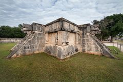 Chichen Itza snake head at Yucatan Mexico. Ancient temple Stock Image
