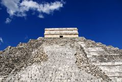 Chichen Itza steps Stock Images