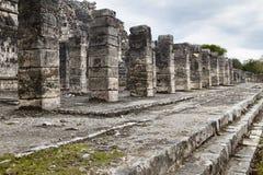 Chichen Itza: Tempiale dei guerrieri Fotografie Stock