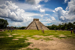 Chichen Itza temple. Emple of Kukulkan, a pyramid that dominates the center of the Chichen Itza in Yucatan, Mexico Stock Images