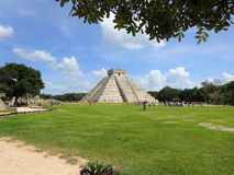 Chichen Itza temple maya in Yucatan royalty free stock images