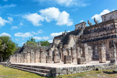 Chichen Itza Temple of the Warriors Royalty Free Stock Image