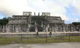 Chichen Itza and Temple of the Warriors in the Yucatan Stock Photography