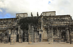 Chichen Itza and Temple of the Warriors in the Yucatan Stock Image