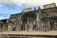 Chichen Itza and Temple of the Warriors in the Yucatan Stock Photos
